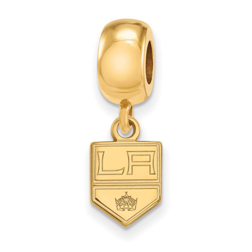Los Angeles Kings Bead Charm x-Small Dangle in Gold-plated Silver by LogoArt MPN: GP018KIN