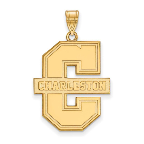 College of Charleston x-Large Pendant Gold-plated Silver GP019CHC