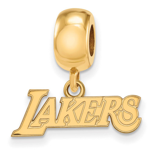 Los Angeles Lakers Bead Charm x-Small Dangle in Gold-plated Silver by LogoArt MPN: GP031LAK