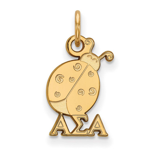 Alpha Sigma Alpha Extra Small Pendant Gold-plated Silver GP034ASI