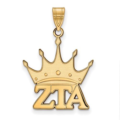 Zeta Tau Alpha Medium Pendant Gold-plated Silver GP036ZTA