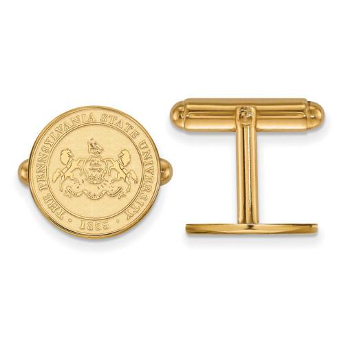 Penn State University Crest Cufflinks Gold-plated Silver GP044PSU