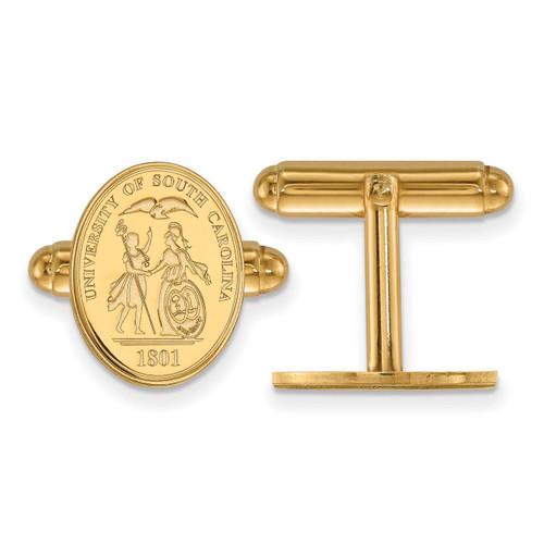 University of South Carolina Crest Cufflinks Gold-plated Silver GP067USO