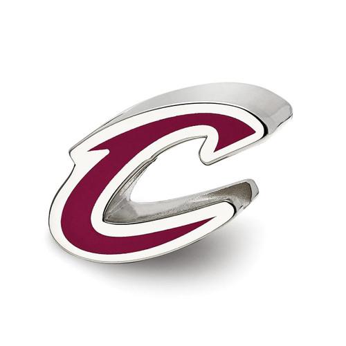 Cleveland Cavaliers C Logo Enameled Logo Bead Sterling Silver SS500CAV