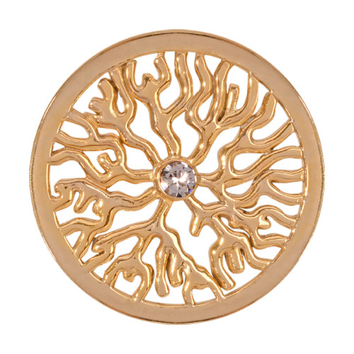 Nikki Lissoni Tree Roots Gold-Plated 33mm Coin C1203GM