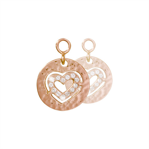 Nikki Lissoni Small Heart 2 Pieces Rose Gold-Plated 14mm Earrings EAC2046RG