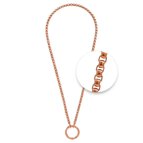 Nikki Lissoni Rose Gold-Plated Necklace with A Rose Gold-Plated Oring Closure 48cm 19in N1013RG48
