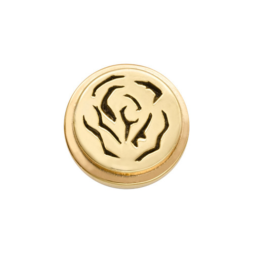 Nikki Lissoni Gold-Plated Rose Coin That Fits S Rings MPN: RC2013G EAN: 8718819234197