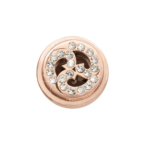 Nikki Lissoni Rose Gold-Plated Sparkling Curls Coin That Fits S Rings MPN: RC2017RG EAN: 8718819233282