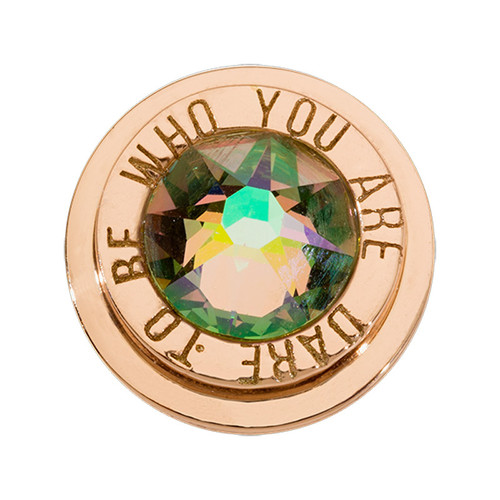 Nikki Lissoni Rose Gold-Plated Dare To Be Who You Are Coin That Fits S Rings MPN: RC2037RG EAN: 8719075301753