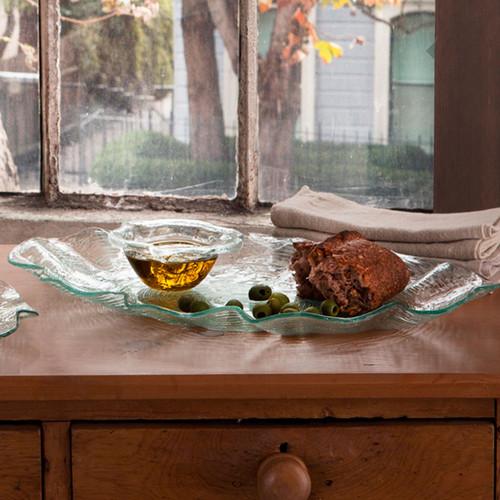 Annieglass Dune Oval Platter 21 3/4 x 14 Inch