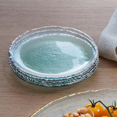 Annieglass Edgey Salad Plate 8 1/2 Inch - Platinum