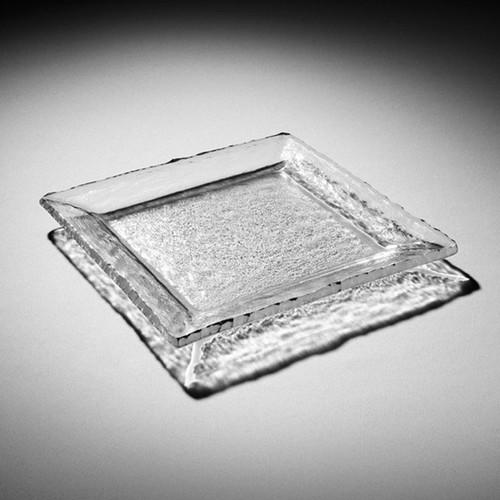 Annieglass Edgey Square Platter 12 Inch - Platinum