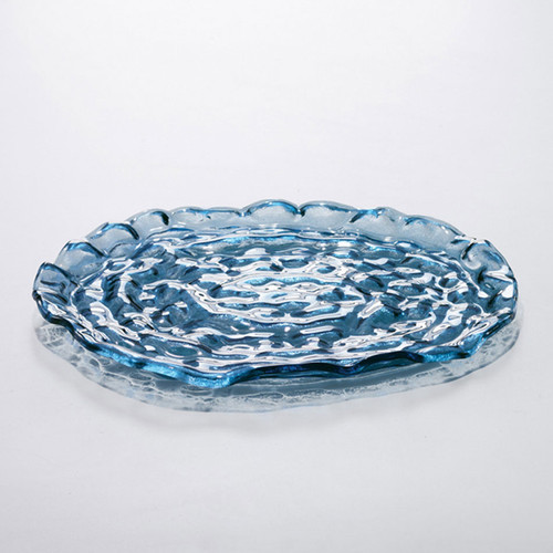 Annieglass Indigo Plate Platter 15 Inch
