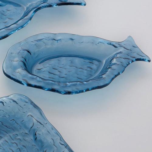 Annieglass Indigo Medium Fish 10 1/2 x 7 Inch