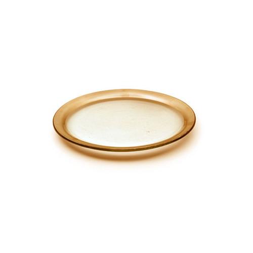 Annieglass Gold Roman Antique Dessert Plate 7 Inch