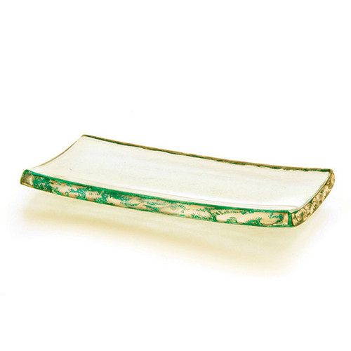 Annieglass Slab Gold Tray 4 x 8 Inch