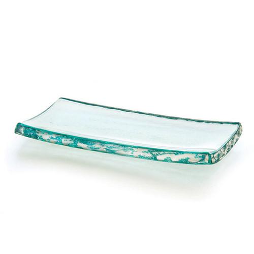 Annieglass Slab Platinum Tray 4 x 8 Inch