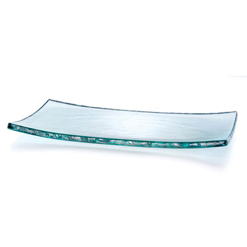 Annieglass Slab Platinum Tray 15 1/2 x 8 Inch