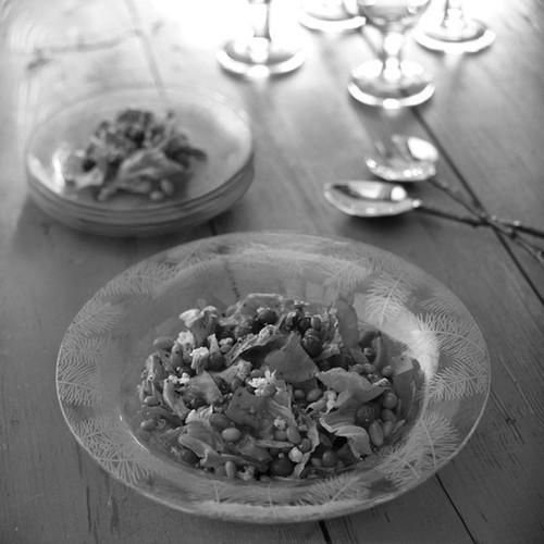 Annieglass Pine Bowl 12 Inch - Satin Silver