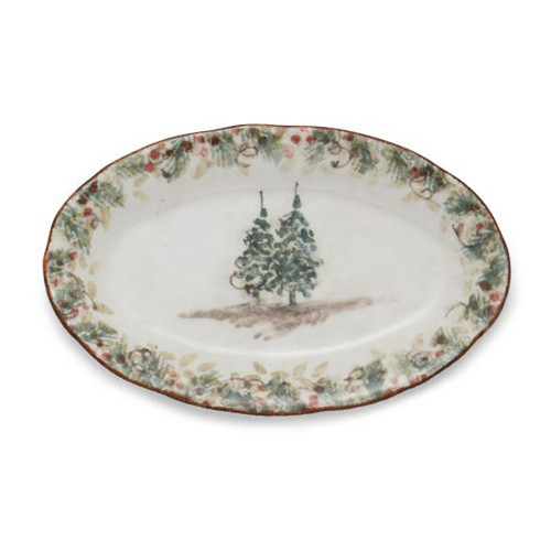 Arte Italica Natale Small Oval Tray NAT6831