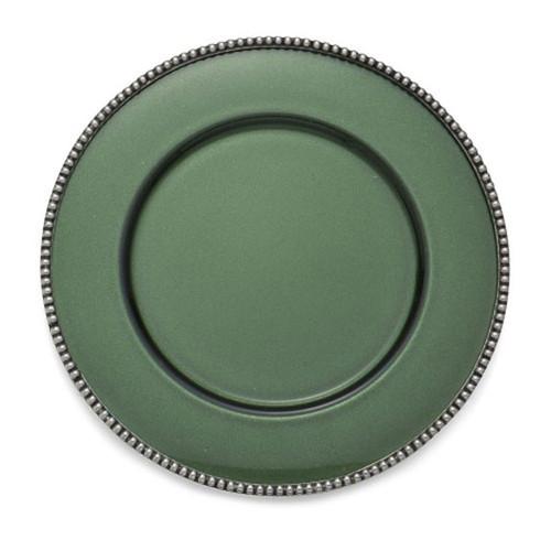 Arte Italica Perla Green Charger PER1100G