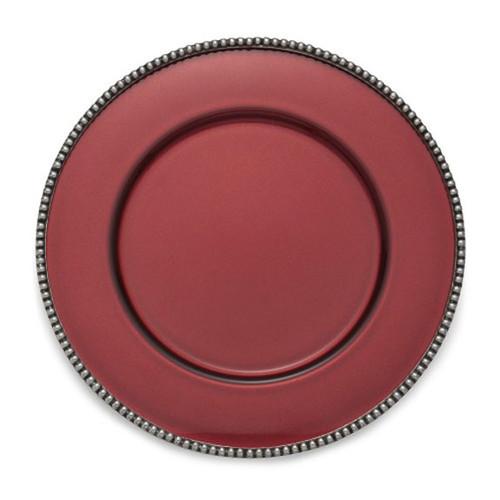 Arte Italica Perla Red Charger PER1100R