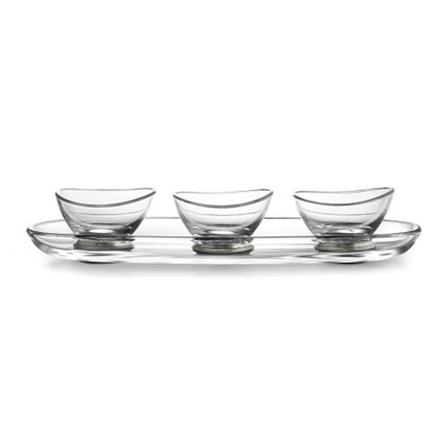 Arte Italica Tavola Oval Tray and Dipping Bowl Set P2941
