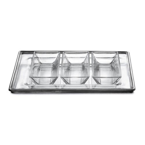 Arte Italica Tavola Rectangular Tray and Dipping Bowl Set P2940