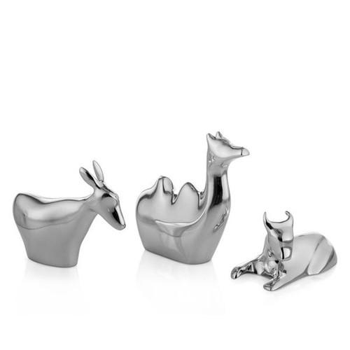 Nambe Mini Nativity 3 Animals Donkey Camel Bull MT0907