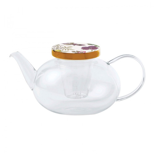 Wedgwood Tea Garden Teapot Glass With Ceramic Lid