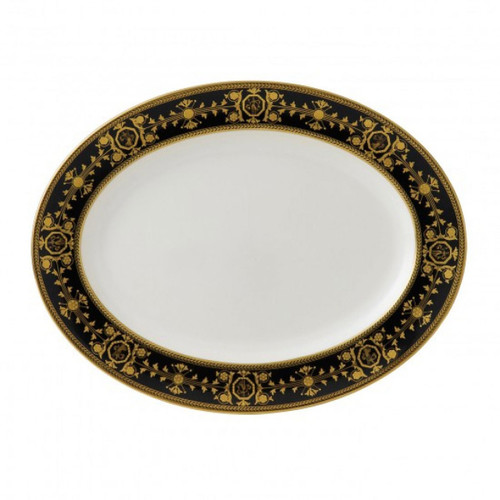 Wedgwood Astbury Black Oval Platter 15.25 Inch