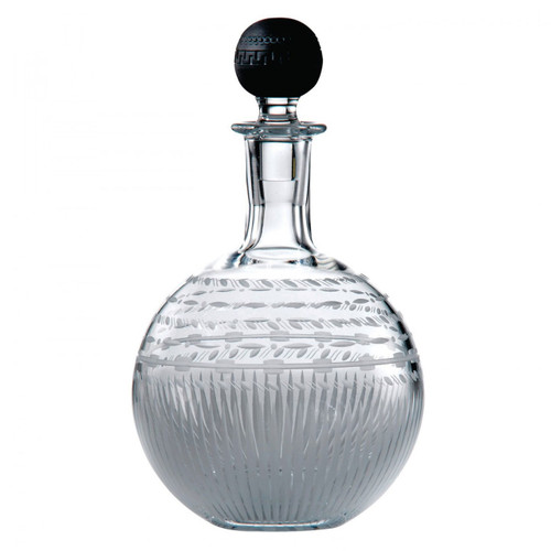 Wedgwood Iconic Crystal Decanter Round 10.2 Inch With Black Jasper Stopper Ltd 30 MPN: 40013260 UPC: 701587244893 Wedgwood Iconic Collection