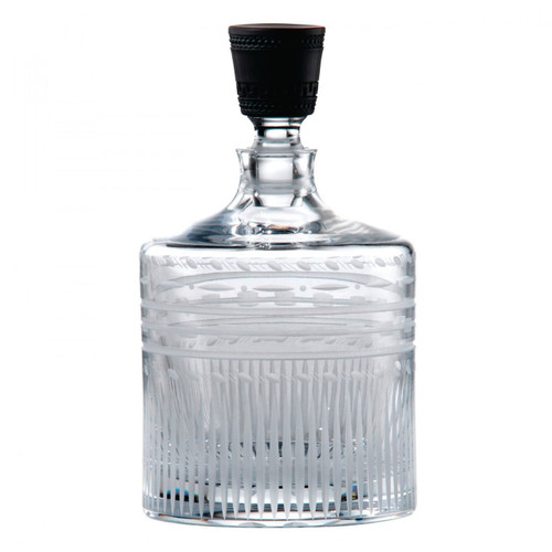 Wedgwood Iconic Crystal Decanter Straight 8.7 Inch With Black Jasper Stopper Ltd 30 MPN: 40013263 UPC: 701587244923 Wedgwood Iconic Collection