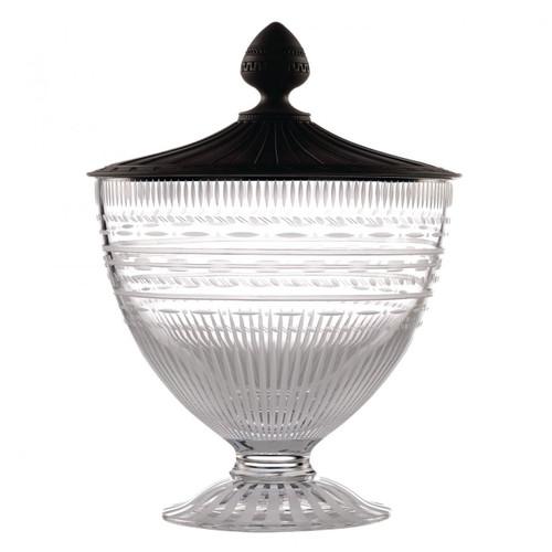 Wedgwood Iconic Crystal Vase 13.4 Inch With Black Jasper Lid Ltd 30 MPN: 40013251 UPC: 701587244800 Wedgwood Iconic Collection