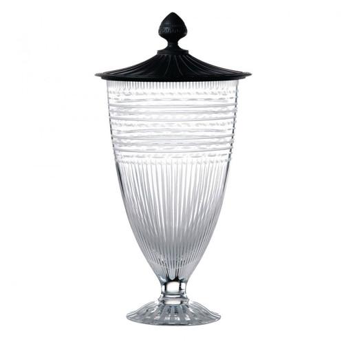 Wedgwood Iconic Crystal Vase 19.3 Inch With Black Jasper Lid Ltd 30 MPN: 40013248 UPC: 701587244671 Wedgwood Iconic Collection