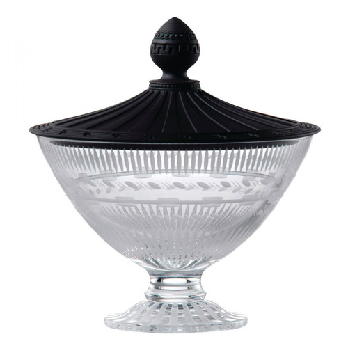 Wedgwood Iconic Crystal Vase 7.7 Inch With Black Jasper Lid Ltd 30 MPN: 40013254 UPC: 701587244831 Wedgwood Iconic Collection