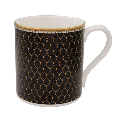 Halcyon Days Antler Trellis Mug Black BCGAT02MGG