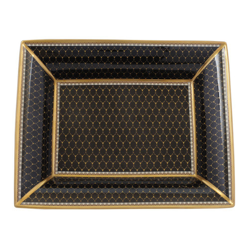 Halcyon Days Antler Trellis Trinket Tray Black