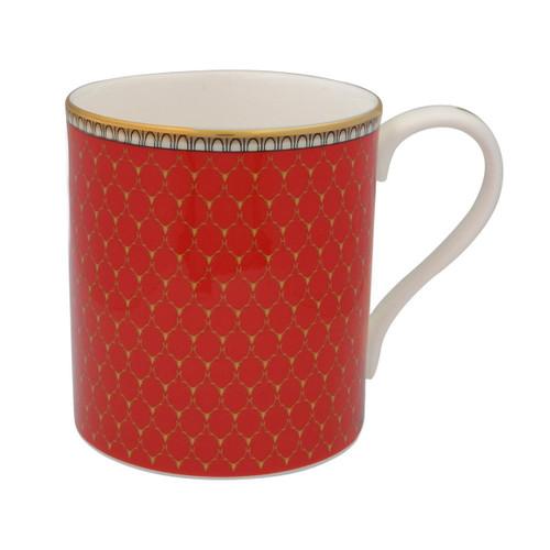 Halcyon Days Antler Trellis Mug Red