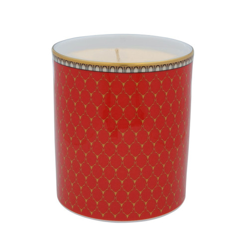 Halcyon Days Antler Trellis Filled Candle Red