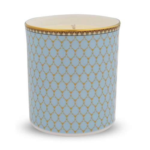Halcyon Days Antler Trellis Filled Candle Blue