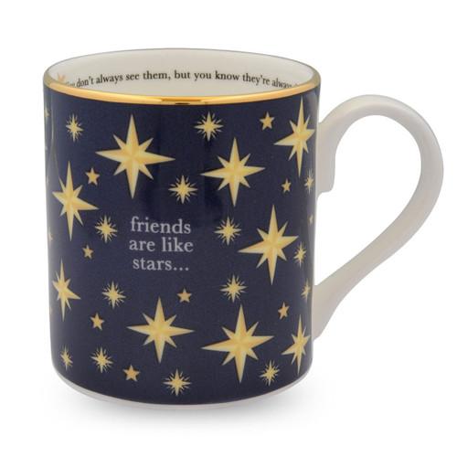 Halcyon Days Friends are like Stars Mug BCFAS11MGG