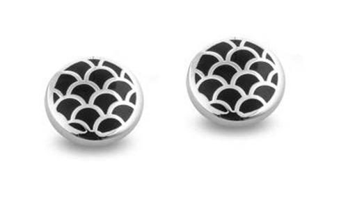 Halcyon Days Salamander Stud Earrings Black Palladium