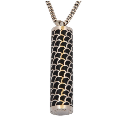Halcyon Days Salamander Tube Pendant Black Palladium