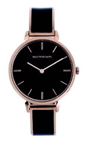 Halcyon Days Maya Plain Bangle Watch Navy Rose Gold MPN: 350/W4030