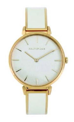 Halcyon Days Maya Plain Bangle Watch Cream Gold MPN: 350/W4032