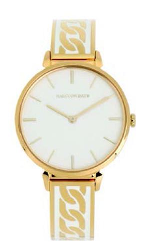 Halcyon Days Curb Chain Bangle Watch Cream Gold MPN: 350/W4042