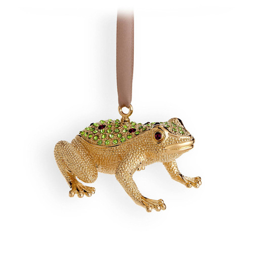 L'Objet Frog Gold Green Ornament MPN: OR109