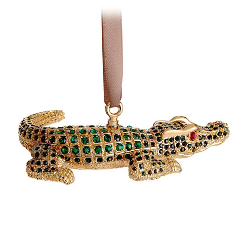 L'Objet Crocodile Gold Green Ornament MPN: OR111